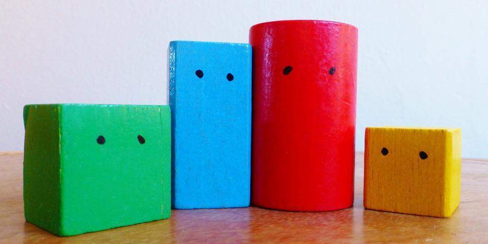 bloques madera familia